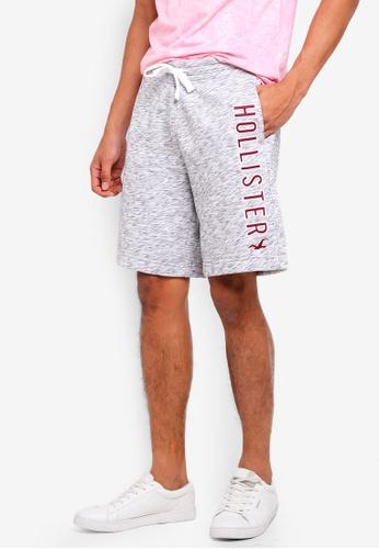 Hollister 灰色 Logo抽繩棉短褲 07BF2AA964DA49GS_1