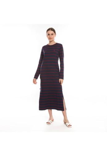 Juice Ematic navy Juice Ematic Dress panjang wanita Navy NAPY MAXY DRESS 1F2F4AABF92029GS_1