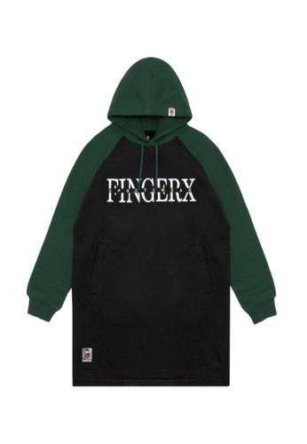 Fingercroxx black Contrast logo print hoodie 38700AAE049B19GS_1
