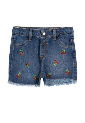 KOTON blue Denim Textile Shorts EB1EFKABEC7877GS_1