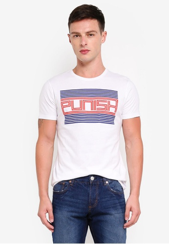 OVS 白色 棉 短袖T恤 5BE36AA2738963GS_1