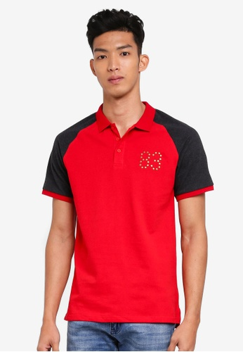Marc & Giselle red Fashion Polo Tee 492E1AAE009BE3GS_1