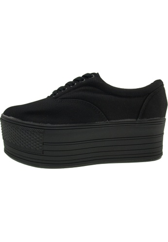Maxstar 黑色 新款韩国鞋C60-5H時尚帆布布混合女黑色 US Women Size MA345SH60HGHTW_1