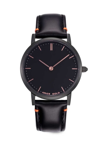 Aries Gold black Aries Gold Urban Tango Black Leather Watch 2C278AC5A448B6GS_1