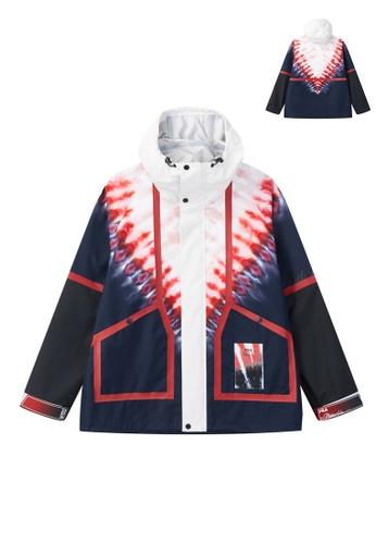 FILA navy FILA x 3.1 Phillip Lim Gradient Color Hooded Jacket 8AD6EAAD868356GS_1
