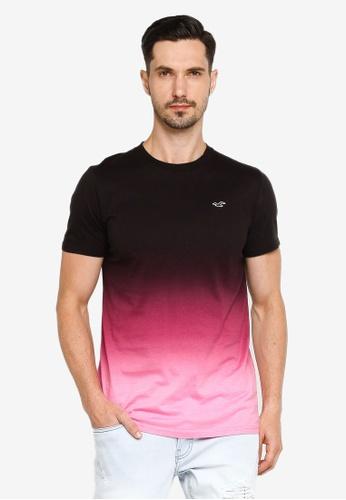 Hollister black Crew Ombre T-Shirt B1227AA38C96A8GS_1