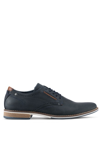 Dune London navy Piped Gibson Casual Derbies DU588SH0SZSAMY_1