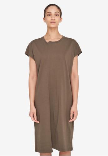 Noisy May green Daphni Organic Cotton Midi Dress FF998AA498393FGS_1