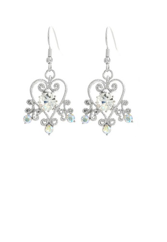 Glamorousky silver Antique Earrings with Silver Austrian Crystals C3853ACE7D7333GS_1