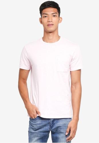 J.Crew pink Garment Dye Slub Jersey Tee B2E8EAAD2F0C1DGS_1