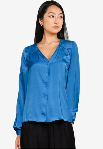 Vero Moda blue Liv Ls Shirt 70619AAB6375A3GS_1