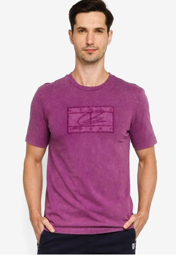 Tommy Hilfiger purple Lewis Hamilton Garment Dyed Relaxed T-Shirt 4B136AA3AA3C46GS_1