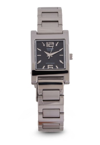 Casio LTesprit專櫃P-1283D-1ADF  不銹鋼方形錶, 錶類, 不銹鋼錶帶