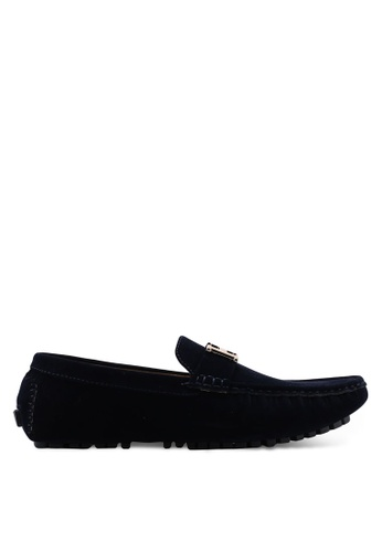 High Cultured blue Velvet Loafers-232 8C3DESH3563F6EGS_1