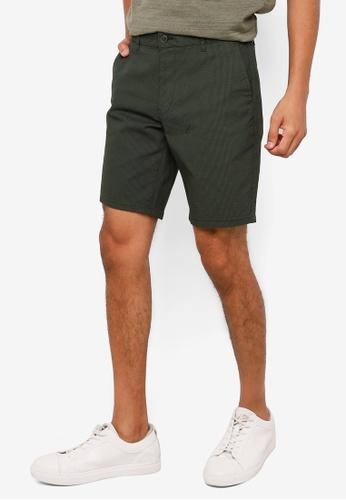 KOTON green Textured Chino Shorts AE7CBAAEC3E1DEGS_1