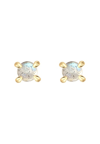 ELLI GERMANY gold Elli Germany Earrings Basic Gemstone 925 Silver Gold Plated 2156BAC6FB1182GS_1