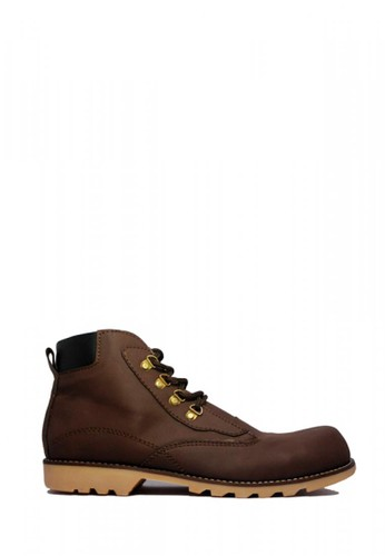D-Island brown D-Island Shoes Safety Boots Engineer Leather Dark Brown 3FFF6SH8D9D91BGS_1