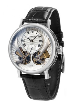 Thomas Earnshaw Men's Genuine Leather Strap Watch - ES-8059-01