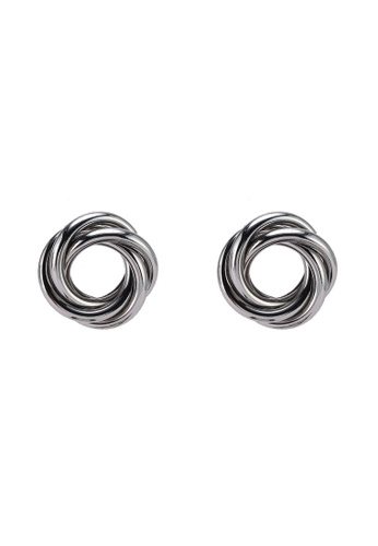 River Island silver Twisted Stud Earrings B0757ACBDCEDE3GS_1