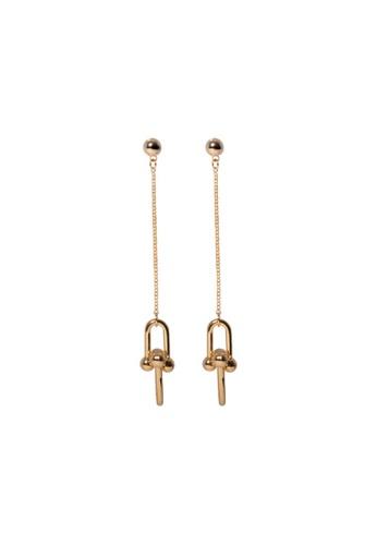 SKEDA gold Refined Chain Swing Earrings 722E2ACF88A0C3GS_1