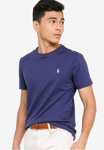 Polo Ralph Lauren navy Short Sleeve Crew Neck Custom Slim fit T-Shirt 3C212AAB7BF272GS_1