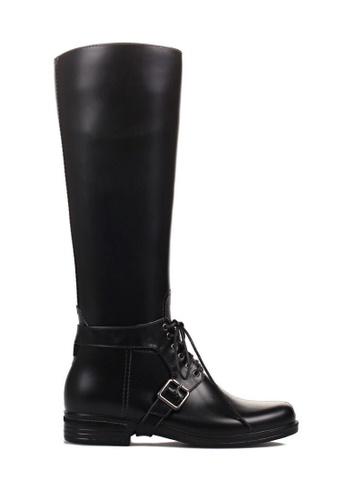 Twenty Eight Shoes black Long riding rain boot 882-9 TW446SH44RXBHK_1