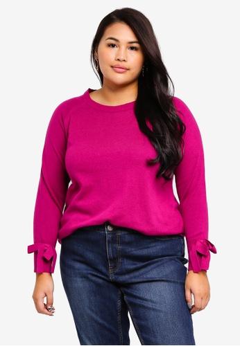 Junarose purple Plus Size Lika O-neck Knit Pullover C4FF0AAD3CBFABGS_1