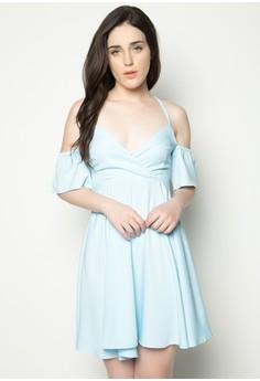 Plain Off Shoulder Dress