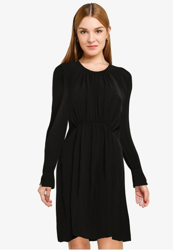 French Connection black Emmy Crepe Ls Dress F23FAAADCBDA68GS_1