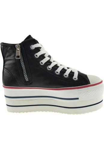 Maxstar Maxstar Women's CN9 7 Holes Double Platform PU High Top Sneakers US Women Size MA164SH45PWKSG_1