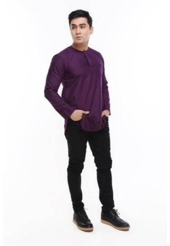 Amar Amran purple Kurta Al Fattah 2.0 D4EA4AAFFD9454GS_1