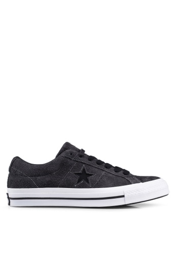 Converse black and white One Star Dark Star Vintage Suede Ox Sneakers D4C00SH22C5D45GS_1