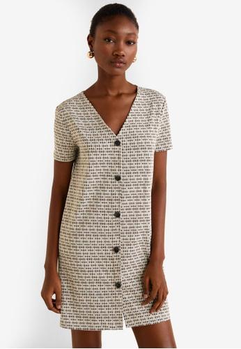 0078a2ab87 Buy Mango Buttoned Printed Dress Online on ZALORA Singapore