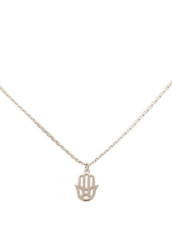 Orelia London gold Golden Plate Spiritual Hamsa Ditsy Necklace OR747AC0SC3YMY_1