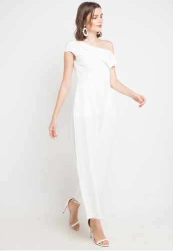 Chic Simple white Asym Jumpsuit 74019AA3A8BD82GS_1