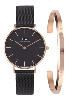 179e4728e0073f Daniel Wellington Combo Ashfield 32mm Black Watch + Classic Bracelet S$  328.00. Sizes One Size