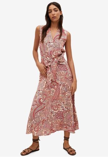 Mango red Paisley Print Dress C7E2AAAF0D11D6GS_1