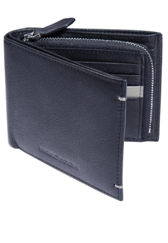 ENZODESIGN black New Design Soft Cow Leather Wallet with Zip Coin Compartment B5115AC4CA5F2DGS_1