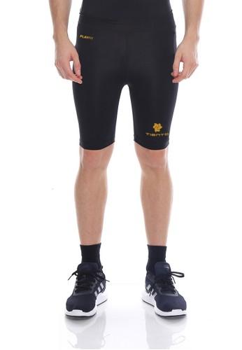 Tiento black Tiento Man Short Pants Black Gold Celana Legging Pria Olahraga Renang Sepakbola Lari F6198AA6539F6FGS_1