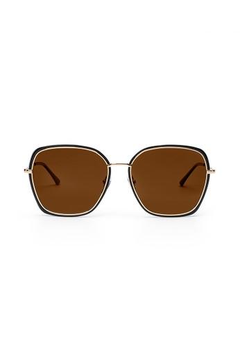 Maverick & Co. brown Maverick & Co. Livi Oversized Sunglasses - Black/Brown 7C810GL3DC74C6GS_1