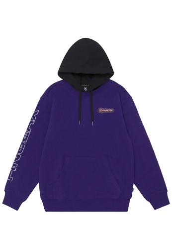 Fingercroxx purple Logo badge hoodie CCFA5AA101842BGS_1