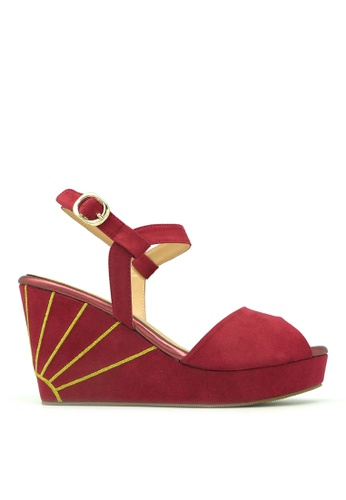 "Carlo Rino red Carlo Rino 33300-C011-14 3.5""Sandal Wedges Platfrom CC5F5SH7672913GS_1"