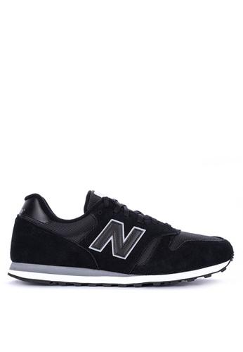 New Balance black 373 Lifestyle Shoes C8026SH40915A3GS_1