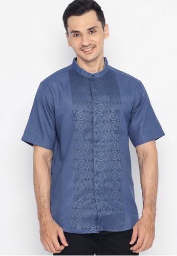Police Denim blue Koko Short Sleeve Shirt 29B2DAACB7F244GS_1
