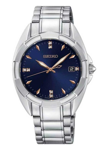 Seiko silver Seiko Blue and Silver Stainless Steel Watch 43935AC9D6BA56GS_1