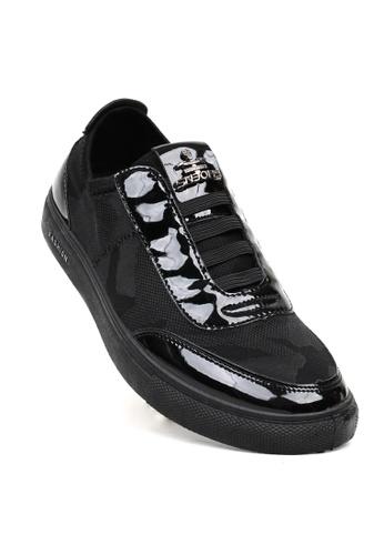 New York Sneakers black Gwain Slip On Shoes ADF3DSHE689E8DGS_1