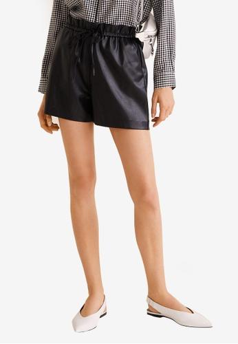 Mango black High-Waist Shorts ADEF5AA5568E25GS_1