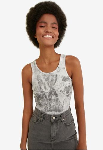 Trendyol black Basic Knitted Cami Bodysuit AF1E7AA04DD5ABGS_1