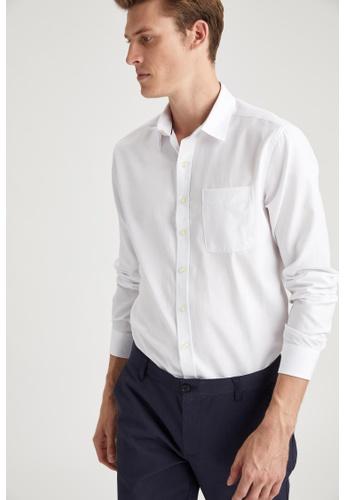 DeFacto white Man Woven Long Sleeve Shirt 1CD56AA2BFF871GS_1
