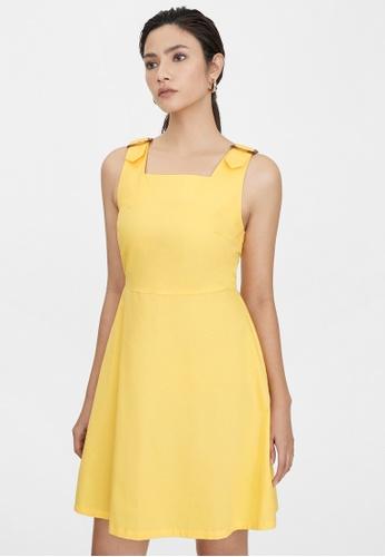 Pomelo yellow Mini Buckle Straps Dress - Yellow 03572AADD8F027GS_1